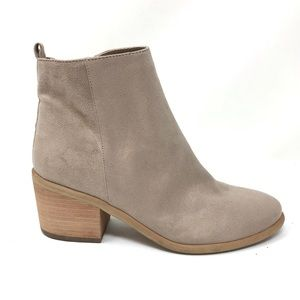 Abound Sz 5.5 Faux Suede Tan Ankle Boots